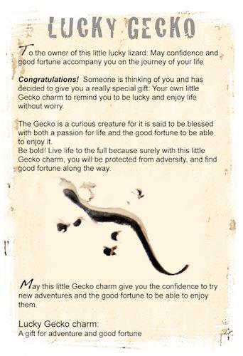Gecko lucky charm info