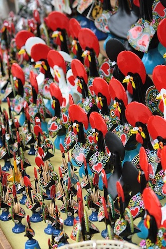 Lucky Rooster figurines