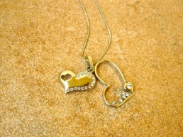 two heart Valentine necklace