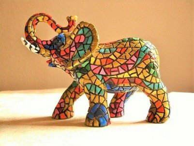 Elephant charm for good fortune in house
