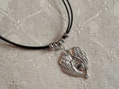 Guardian Angel wings with heart