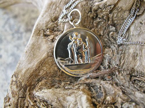 St Christopher necklace for safe travels