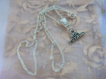 travel necklace bon voyage