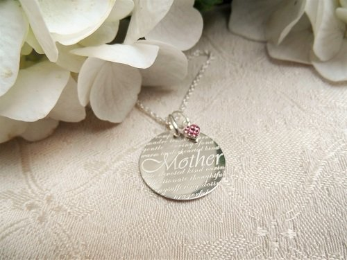 Happy Birthday Mother necklace gift