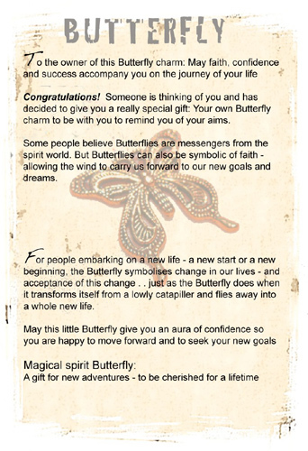 Butterfly to wish Good Luck on new venture
