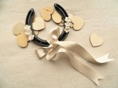 Lucky gift wedding horseshoe
