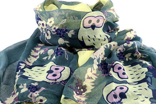 Lucky wise owl scarf