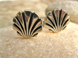 Scallop shell cufflinks retirement gift
