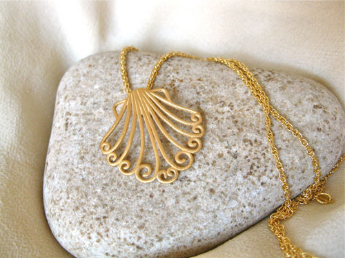 Camino de Santiago necklace gold plated