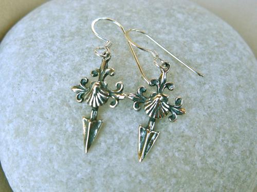 Saint-James-cross-Camino-earrings-ideal-safe-travel-gift