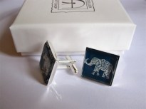 Lucky elephant cufflinks for strength