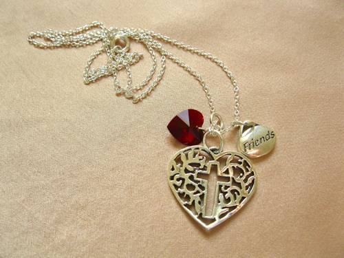 Christian friendship necklace