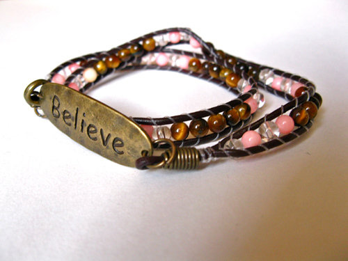 Believe bracelet for travel lovers