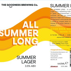 All Summer Long Summer Lager 3.5%