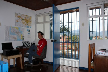 Command central is located upstairs between the kids' room and ours. We are blessed to have a second story to catch the breezes, the sunshine, and the view.