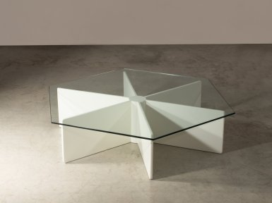 LOT 265 - PIERRE PAULIN, RARE TABLE BASSE MOD. T 878 DE LA SERIE SPIDER, 1966 - ©ARTCURIAL
