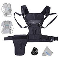 Fomito Multi Camera Carrying Chest Harness System Vest with Side Holster for Canon for Nikon for Panasonic for Olympus for Sony A7R A7S A7II A7RII A58 A99 A6000 A6300 DSLR