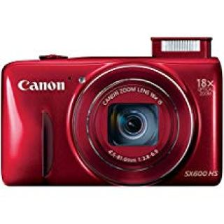 Canon PowerShot SX600 HS 16MP Compact Digital Camera - Wi-Fi Enabled (Red) (Certified Refurbished)