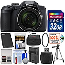 Nikon Coolpix B700 Digital Camera with 32GB Card + Case + Battery & Charger + Tripod Kit (Certified Refurbished)