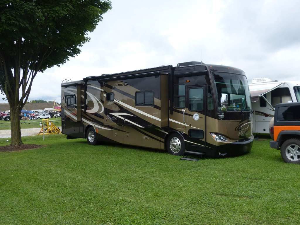 Tiffin Phaeton camping at York County PA Fairgrounds