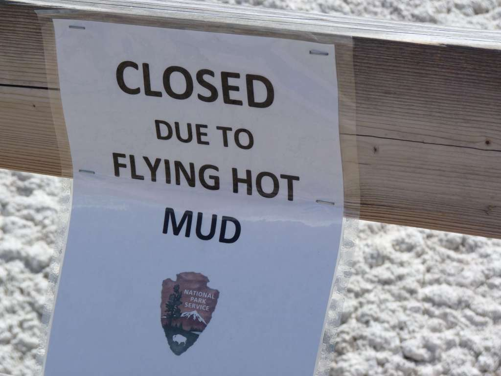 beware hot flying mud