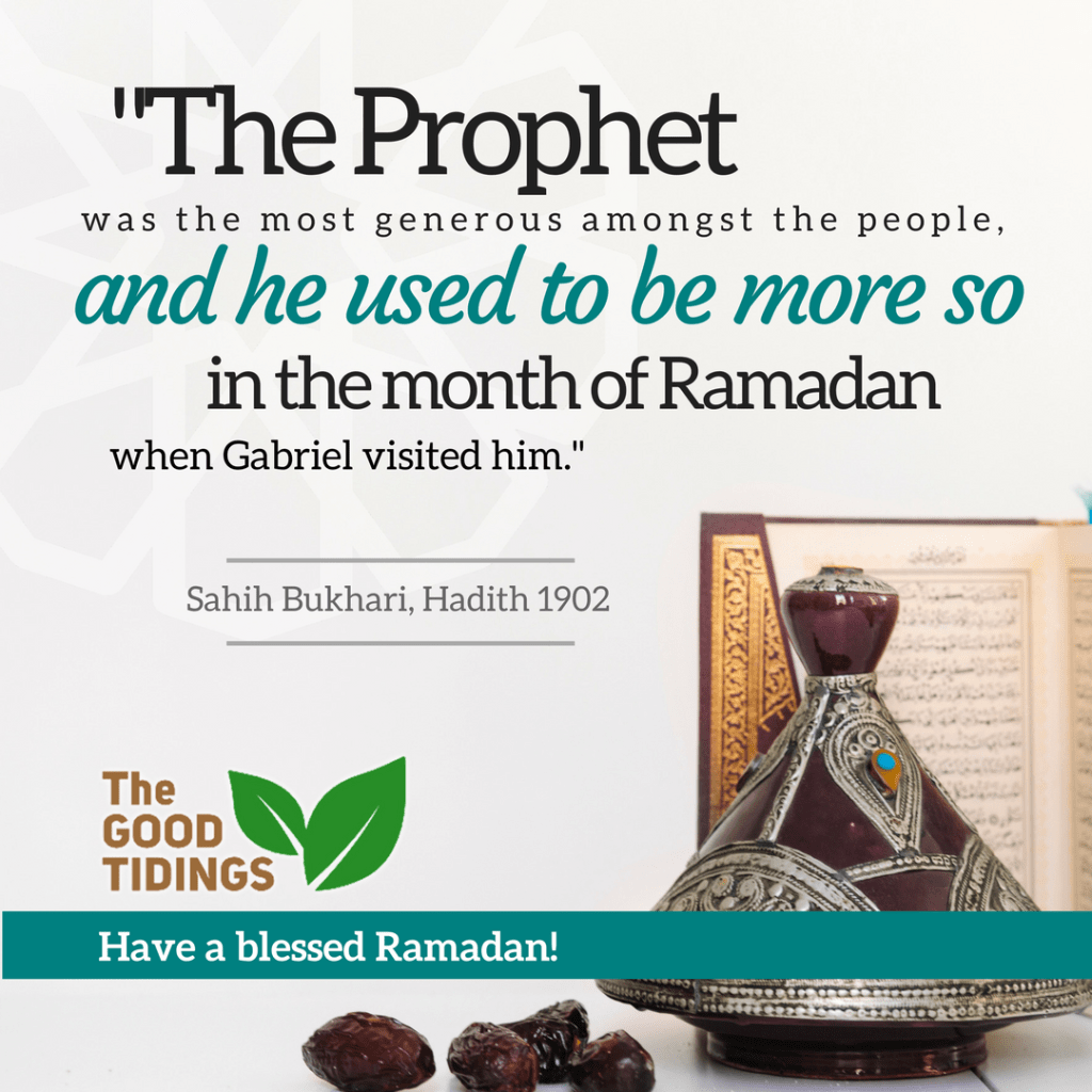 Let's be generous during the month of Ramadan.