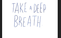 take a deep breath image