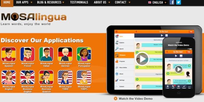 Aplikasi Bahasa Inggris Mosalingua
