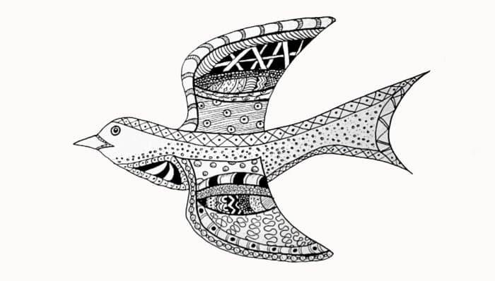 Gambar Doodle Burung