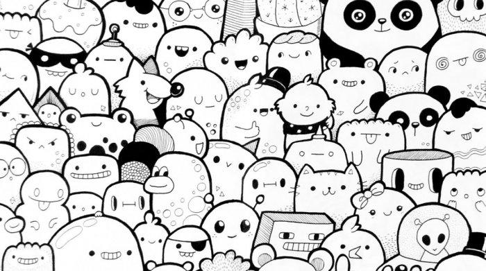 Gambar Doodle Lucu