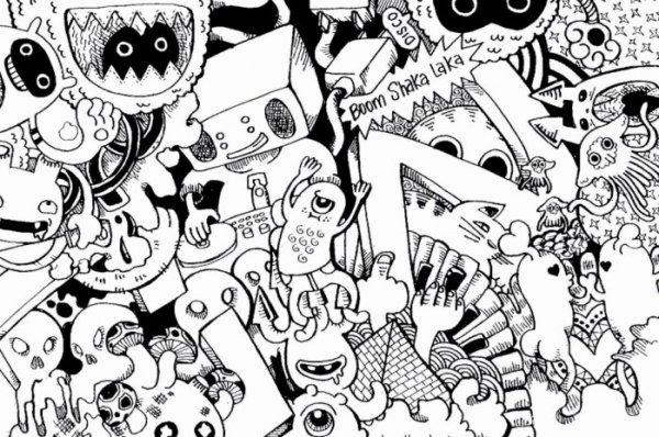 Gambar Doodle Monster