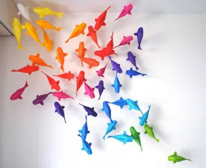Hiasan Kamar 3D Menggunakan Kertas Origami