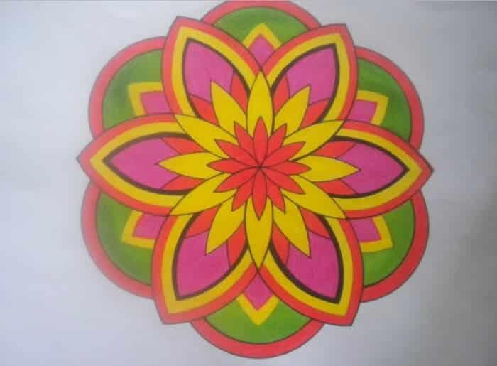Motif Geometris Bunga 1