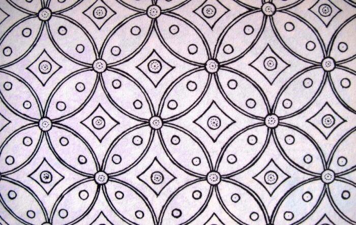 Motif Geometris Kawung