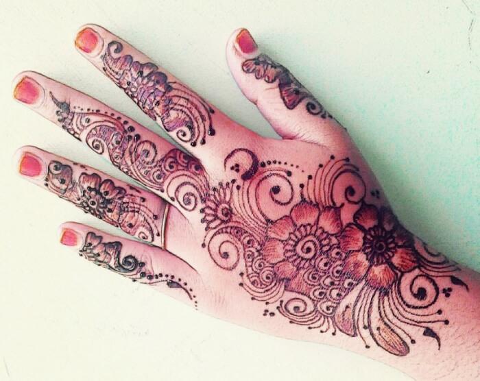 Henna Tangan Pengantin Warna Merah Tattoos Ideas
