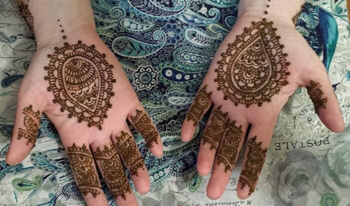 Gambar Henna Telapak Tangan Simple Untuk Pemula