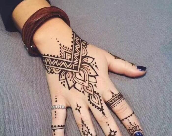 Gambar Henna Hanya Di Jari Www Bilderbeste Com