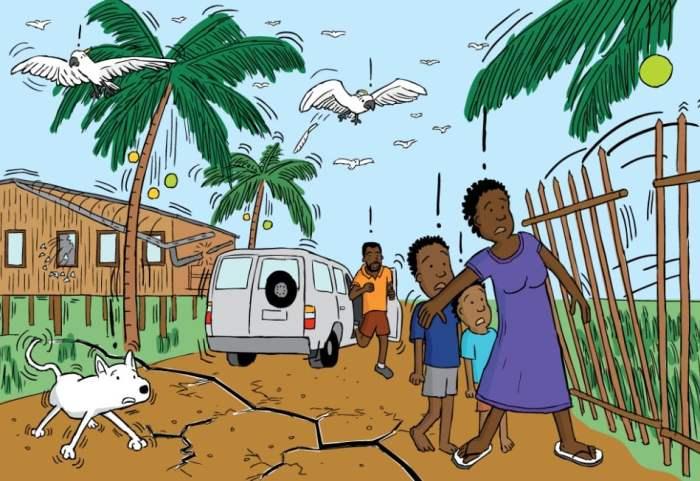 Gambar Ilustrasi Gempa Bumi