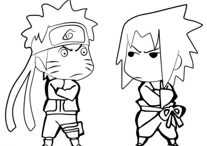 Gambar Karikatur Anime naruto sasuke kartun keren