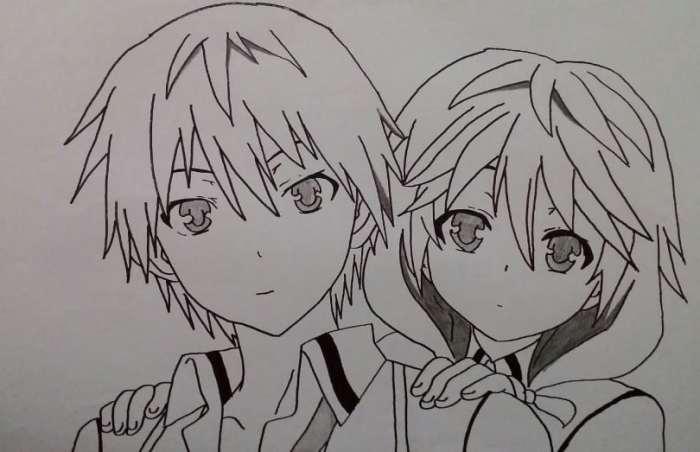 Gambar Sketsa Anime