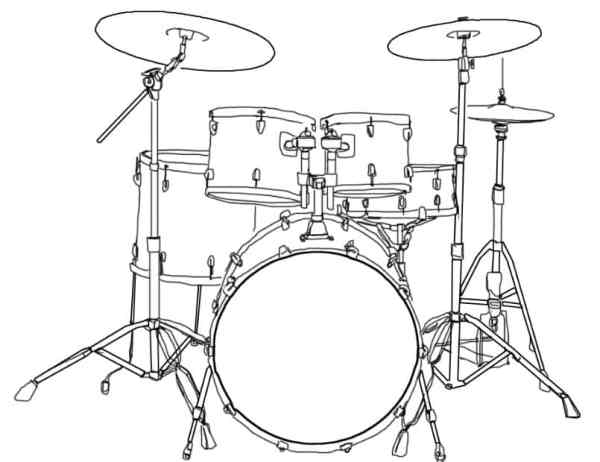 Gambar Sketsa Drum