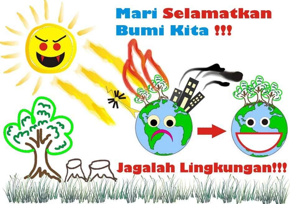 Contoh Slogan Gambar Poster Lingkungan Simple Terbaru ...