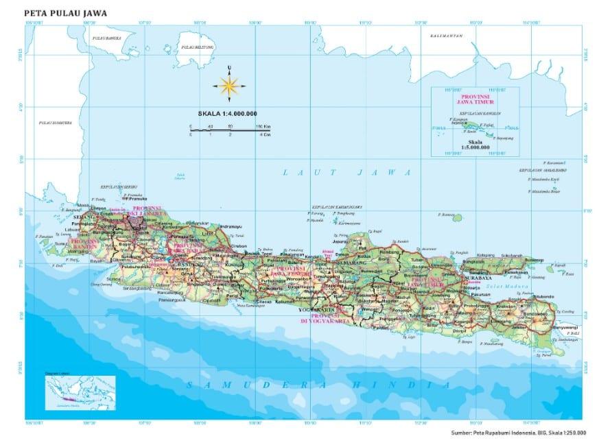 1 bab sebaran flora dan fauna di indonesia dan dunia ppt. Peta Pulau Jawa Kekayaan Alam Kebudayaan Sejarah Lengkap