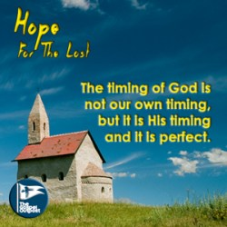 The timing of God is not our own timing, but it is His timing and it is perfect.
