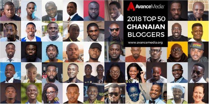 2018 Top 50 Ghanaian Bloggers by Avance Media