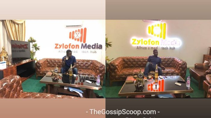 Photos Of NAM1 Fully Relaxed And Sipping Expensive Wine At Zylofon Media Head Office Pop Up