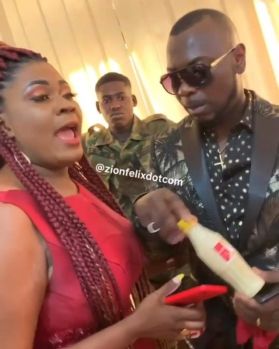 Ghanaians Claim Nayas' Husband Is A Hungry German Borga For Drinking Mashed Kenkey In Public