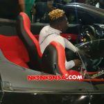 Shatta Wale's Ferrari car