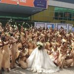 Linda Ikeji's Sister, Sandra Ikeji, Sets World Record By Marrying With 200 Bridesmaids