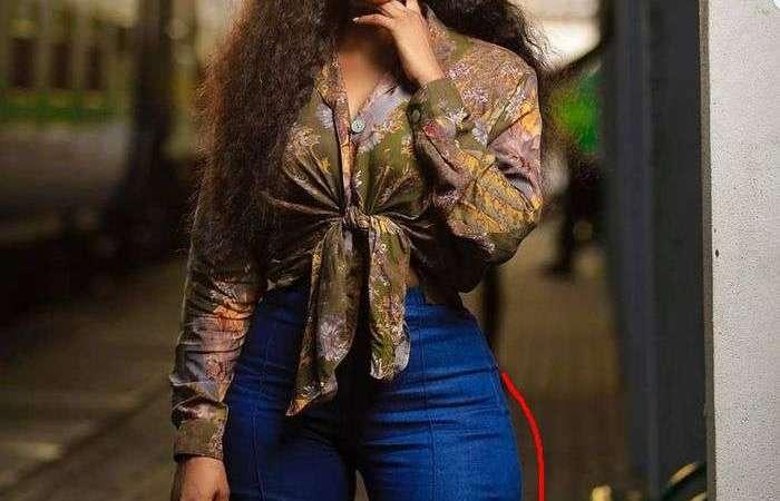 Photo Of Benedicta Gafah Wearing A Big Visible Hip-pad Goes Viral